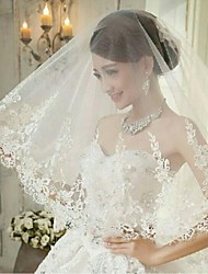 One Tire Chapel Bridal Veils with Fashion Lace Trim ASV29