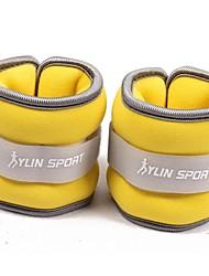neoprene pulso amarelo / pesos de tornozelo (0,5 kg) par set 1 kg preenchidos com areia de ferro para a execução de exercício