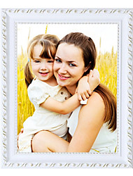 Personalized Photo Gallery Classic Curve Wood and Plaster Frame 1 Photo