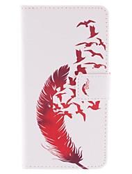 Pour Coque Sony / Xperia Z3 Porte Carte / Portefeuille / Avec Support / Clapet Coque Coque Intégrale Coque Plume Dur Cuir PU pour Sony