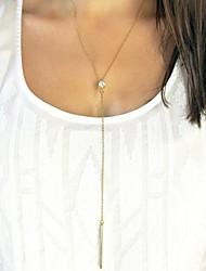la mode y forme strass collier pendentif en alliage d'or (1pc)