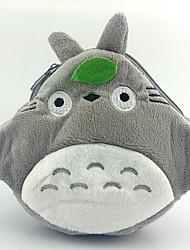 Tonari no Totoro cinza cosplay peludo duplo zíper carteira