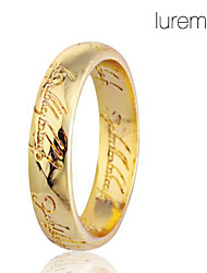 Lureme®Alloy Engraving Scripture Pattern Ring(Assorted Colors)