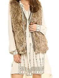 Women Faux Fur Top