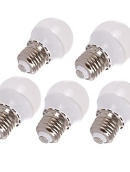 1.5W E26/E27 LED Globe Bulbs 6 SMD 3528 125-145 lm Warm White Decorative AC 220-240 V 5 pcs