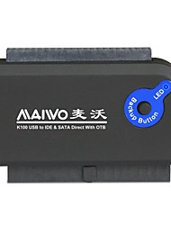 "maiwo k100u2is usb adapter 2.0 HDD con Super Speed ​​2.5 ""/ 3,5"" SATA / IDE"
