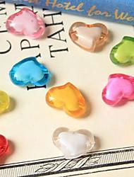 acrilico tallone fotografia puntelli Qihang a forma di cuore (1 pc, colori assortiti)