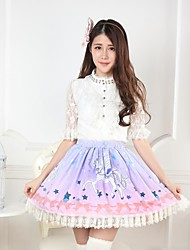 Pink Bow Pretty Lolita Unicorn Princess Kawaii Skirt Lovely Cosplay