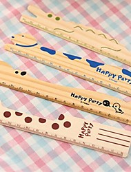3pcs Kawaii Cute Animal Wood Ruler Schlool Stationery Sewing Ruler Kids Birthday Party Wedding Return Gift Present