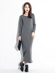 Women's Black/Gray Dress , Bodycon/Maxi Long Sleeve