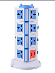 Overload Protector 5V/2.1A 4 Floor with 15 Universal Outlets and 2 USB US Adapter Power Strips
