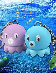 Lovely Baby Octopus LED Sound Keychain(Purple&Blue)
