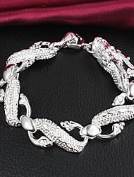 vsilver moda temperamento pulseira de prata 925 mulheres