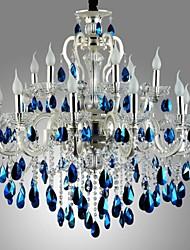 lustre moderno decoração de cristal de fundição de metal pressur