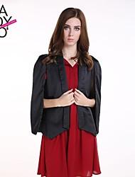 haoduoyi® Women's Split Sleeve Solid Color V-neck Single Jugged Blazer