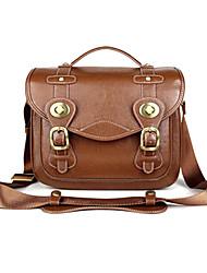 KRO 10-Ligh Beige Camera Bag for Canon 5D2 5D3 60D 7D Nikon D90 D7000 Sony PENTAX[M Size]
