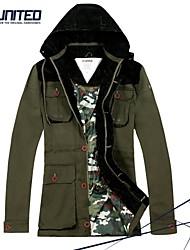 taille plus l'hiver le brise-vent h-United® des hommes de veste à capuche