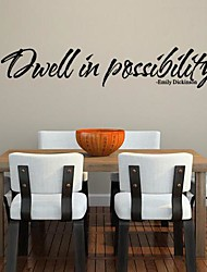 Wall Stickers Wall Decals, Modern Inspiration Quote PVC Wall Stickers.