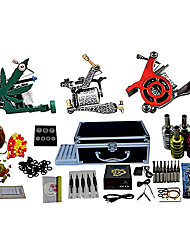 3 Cast Iron Tattoo Machines and LCD Power Supply with Free Gift of 20 Tattoo Inks
