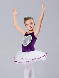 Roupas de Dança para Crianças Blusas / Vestidos e Saias / Tutus Crianças Chifon / Elastano / Tule / Veludo Sem Mangas