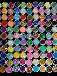 120pcs kleurrijke glitter paillette shell macht gouden ui caviare kleine cirkel fles nail art decoraties