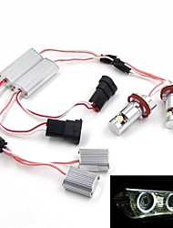 High Quality H8 6000K 6W 400LM Angel Eyes LED Light Bulbs Use For BMW