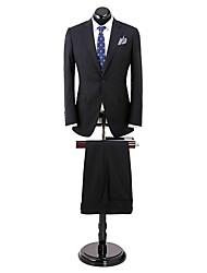 bande noire adaptée costume ajustement 100% laine