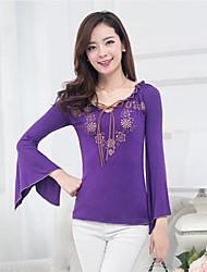 v cou impression chemises petits champignons de femmes (plus de couleurs)