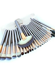 24pcs Makeup Brushes set Professional blush/powder/foundation/concealer brush shadow/eyeliner/eyelash/brow/lip brush with white bag cosmetic brush