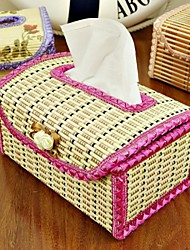Euro Hand-woven Bamboo Crafts Tissue Box