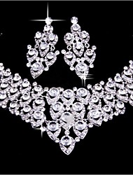 Wedding Bride Wedding Accessories  Jewelry Set Necklace Earrings(Set of 2)