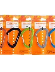 7mm Wiregate Karabiner Schnellverschluss hängen Schlüsselbund Schlüsselbund (zufällige Farbe)
