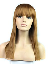 22 Inch Long Straight High Temperature Fiber Wave Female Elegant Fashion Synthetic Celebrity Wig