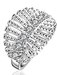 exagérée partie de la mode contracté argent brillant anneau exagérée yezi925 évidement