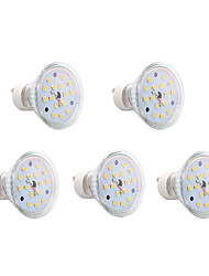 5 pcs GU10 4W 15 SMD 2835 300 LM Warm White MR16 LED Spotlight AC 85-265 V