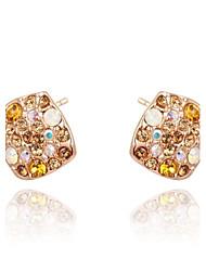 женские Рокси моды новый приход красочный австрийский хрусталь ручной мозаики женских украшений модных серьги (1 пара)