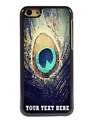 Personalized Phone Case - Peacock Feathers Design Metal Case for iPhone 5C
