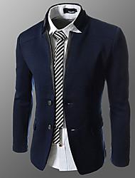 HUIZI Men's Fashion Korea Style Slim Splice Blazer