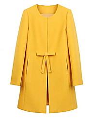 ONLY Women's New Linen Wool Blends Coat