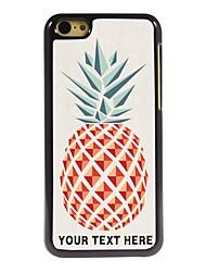 caso de telefone personalizado - abacaxi caso design de metal para iphone 5c