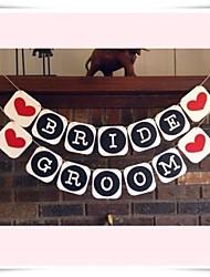 """Wedding Décor """"BRIDE&GROOM""""  Table Banner Venue Decorations"""
