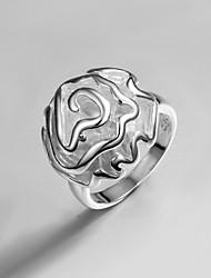vsilver Damenmode Temperament 925 Silber Blume Ring