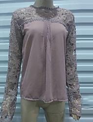 De coco zhang vrouwen o-hals uitgesneden overhemd