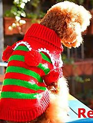 Perros Suéteres Rojo Invierno Navidad Navidad