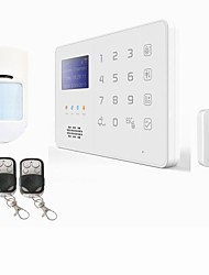 App android GSM SMS Security Burglar Alarm System Detector Sensor Remote Control siren with backup battery and with cage