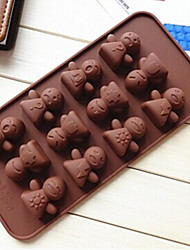 Kids Face Shape Cake Mold Ice Jelly Chocolate Mold,Silicone 21×10.5×1.8 CM(8.3×4.1×0.7 INCH)