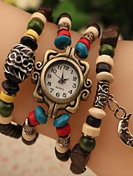 Women's Fashion  Beads Japanese Quartz Watch(Assorted Colors)