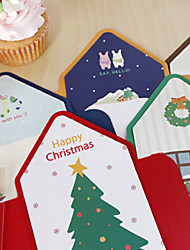 Lovely Stripe Style Christmas Card(5PCS)