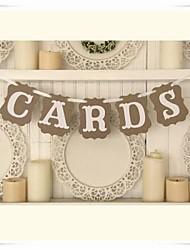 """la boda decoración de época """"tarjetas"""" escribanos bandera del partido clásico"""