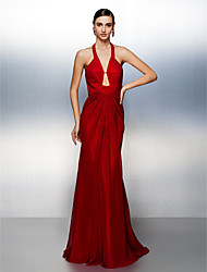 Formal Evening Dress - Ruby Plus Sizes / Petite Trumpet/Mermaid Halter Sweep/Brush Train Chiffon